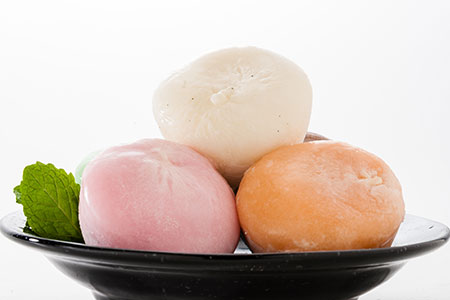Three Mochi Ice Cream On a Dish