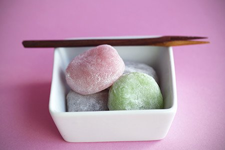 Mochi Ice Cream Being Served In A Fun Way